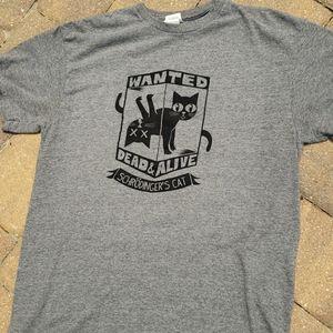 Delta pro gray Schrodingers Cat graphic t-shirt